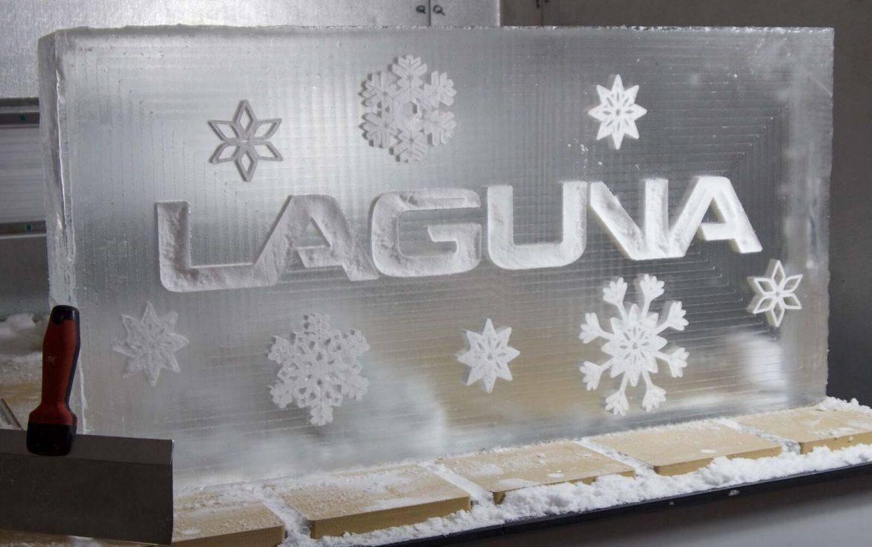 laguna swift cnc etching an ice block