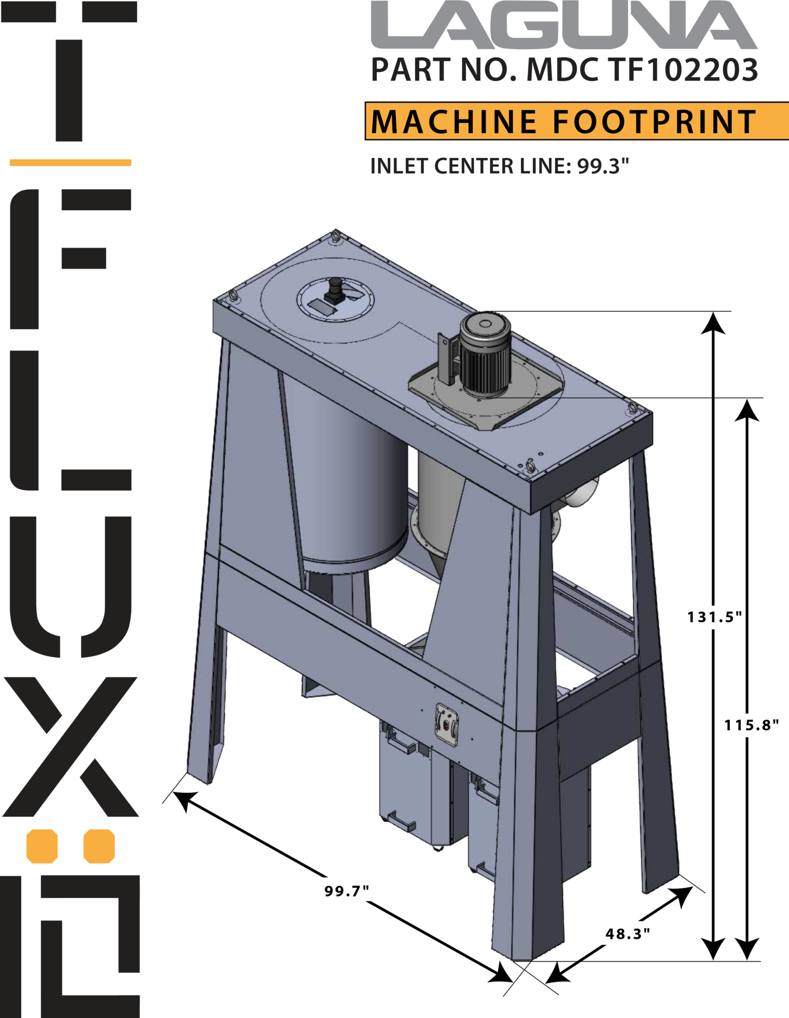 T|Flux: 10 Cyclone Dust Collector | Laguna Tools