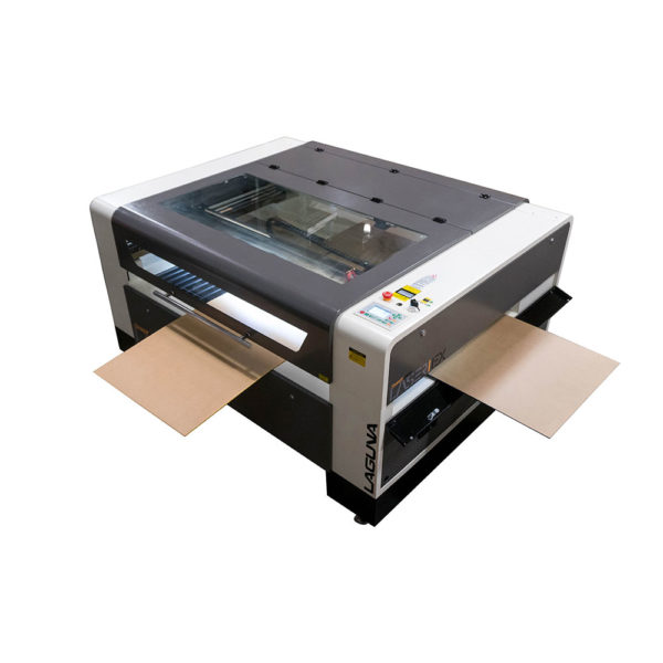 laser machine with pass throughs