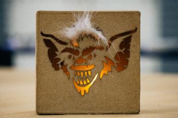 laserr cnc making halloween decoration