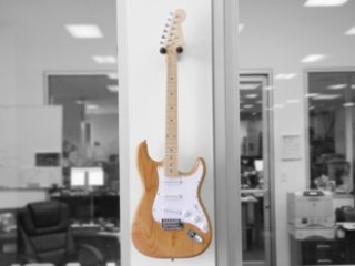 CNC Cut Guitar on Wall