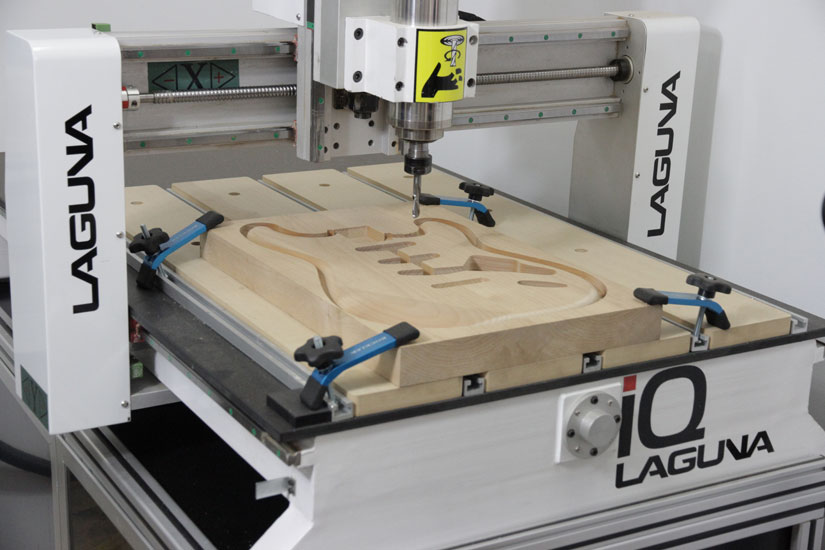 iq cutting out guitar on desktop cnc